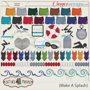 Make A Splash Theme Kit - Scraps N Pieces