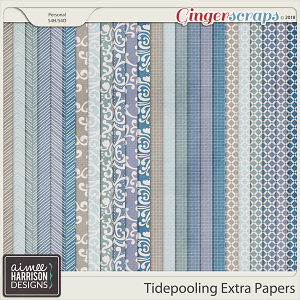 Tidepooling Extra Papers by Aimee Harrison