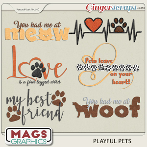 Playful Pets WORD ART by MagsGraphics
