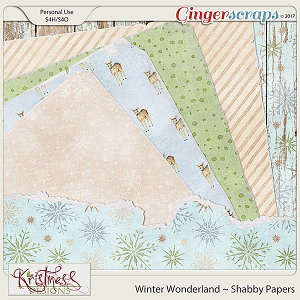 Winter Wonderland Shabby Papers