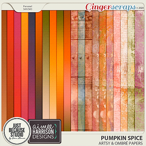 Pumpkin Spice Artsy & Ombré Papers by JB Studio and Aimee Harrison Designs