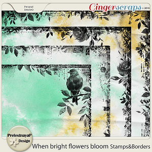 When bright flowers bloom Stamps&Borders
