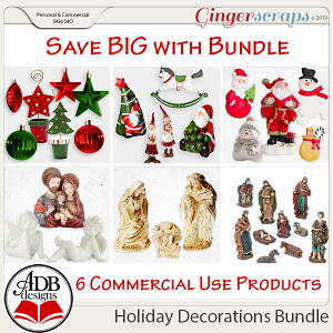 Holiday Decorations Bundle by ADB Designs