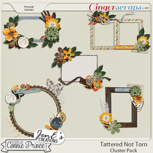 Tattered Not Torn - Cluster Pack