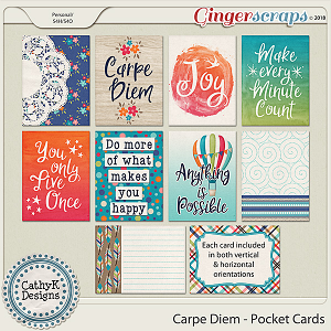 Carpe Diem - Pocket Cards by CathyK Designs