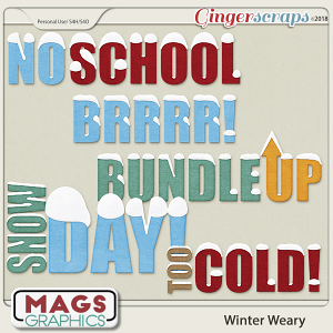 Winter Weary WORD ART by MagsGraphics