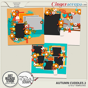 Autumn Cuddles Templates 2 by JB Studio and Neia Scraps
