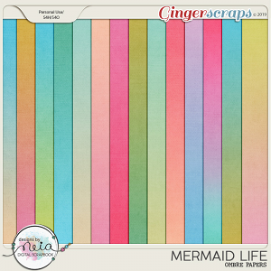 Mermaid Life - Ombre Papers - by Neia Scraps