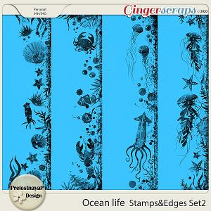 Ocean life Stamps & Edges Set2