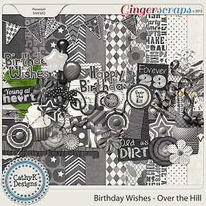Birthday Wishes - Over The Hill Kit