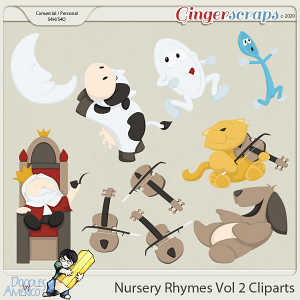 Doodles By Americo: Nursery Rhymes Vol 2 Cliparts