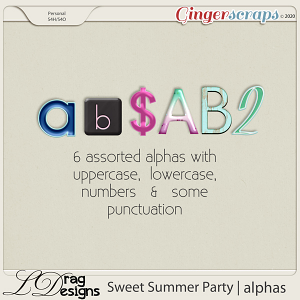 Sweet Summer Party: Alphas by LDragDesigns