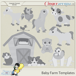 Doodles By Americo: Baby Farm Templates