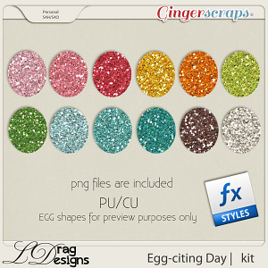 Egg-citing Day:Glitterstyles by LDragDesigns