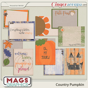 Country Pumpkin JOURNAL CARDS by MagsGraphics