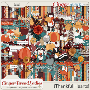 GingerBread Ladies Collab: Thankful Hearts {2020}