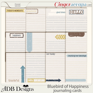 Bluebird of Happiness Journal Cards by ADB Designs
