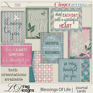 Blessings Of Life: Journal Cards by LDragDesigns