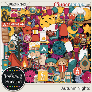 Autumn Nights KIT by Heather Z Scraps