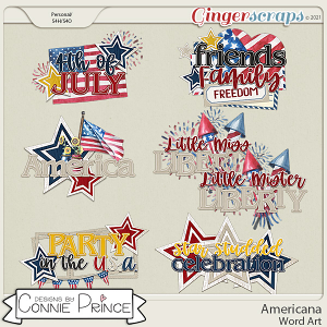Americana  - Word Art Pack by Connie Prince