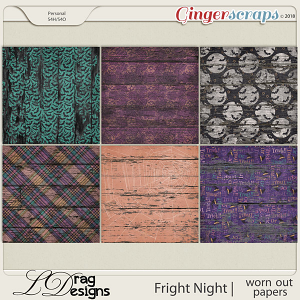 Fright Night: Worn Out Papers by LDragDesigns