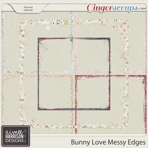 Bunny Love Messy Edges by Aimee Harrison