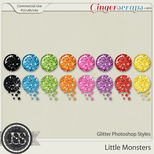 Little Monsters CU Glitter Photoshop Styles