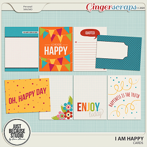 I Am Happy Cards by JB Studio
