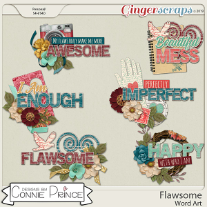 Flawsome - Word Art Pack by Connie Prince