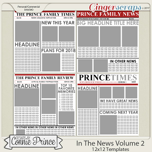 In The News Volume 2 - 12x12 Temps (CU Ok) by Connie Prince