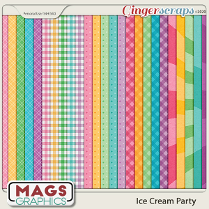 Ice Cream Party EXTRA PAPERS by MagsGraphics