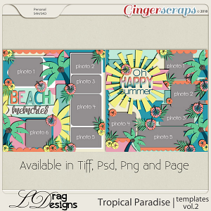 Tropical Paradise: Templates Vol. 2 by LDragDesigns