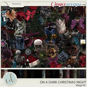 On A Dark Christmas Night Mega Kit by Ilonka's Designs
