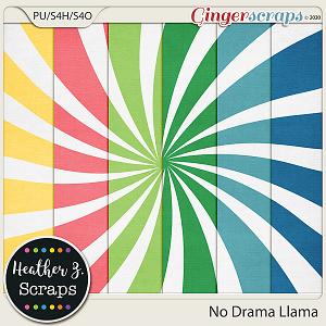 No Drama Llama SUNBURSTS by Heather Z Scraps