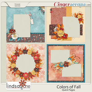 Colors of Fall Quick Pages by Lindsay Jane