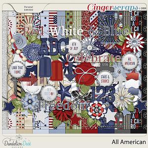 All American Digital Scrapbook Kit By Dandelion Dust Designs