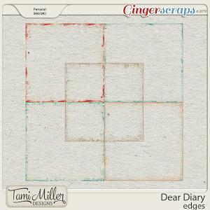 Dear Diary Edges by Tami Miller Designs