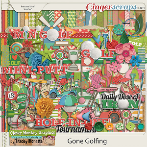 Gone Golfing by Clever Monkey Graphics