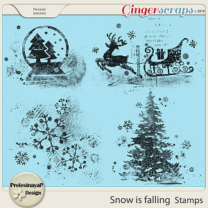 Snow is falling Stamps