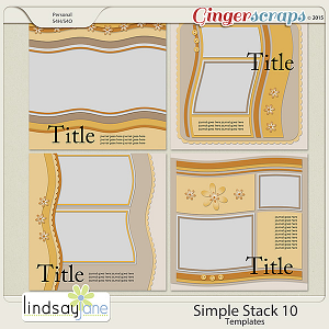 Simple Stack 10 Templates by Lindsay Jane