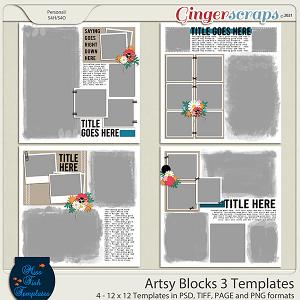 Artsy Blocks 3 Templates by Miss Fish