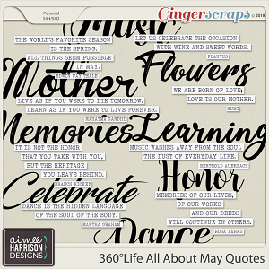360°Life All About May Quotes by Aimee Harrison