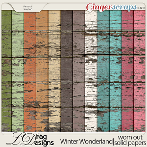 Winter Wonderland: Worn Out Solid Papers by LDragDesigns