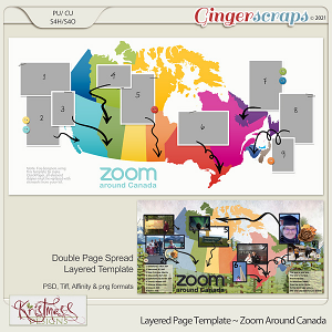 Layered Page Templates ~ Zoom Around Canada