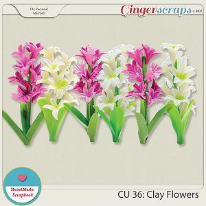 CU 36- Clay flowers - hyacinth