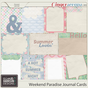Weekend Paradise Journal Cards by Aimee Harrison