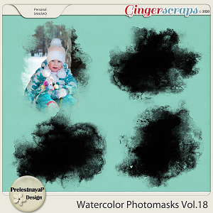 Watercolor photomasks Vol.18
