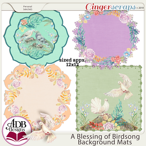 A Blessing of Birdsong Mats by ADB Designs