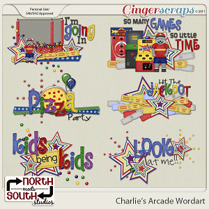 Charlie's Arcade {Wordart} by North Meets South Studios
