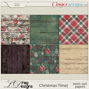 Christmas Time:Worn Out Papers by LDragDesigns